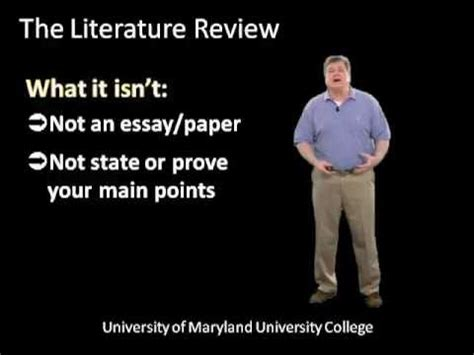 What is a Literature Review? and How Do I Write One;